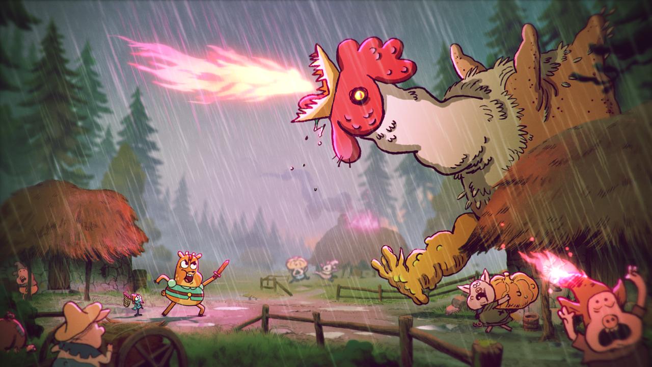 The Heroic Quest of the Valiant Prince Ivandoe, poulet dragon ©TM & © 2020 Cartoon Network