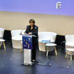 La ministre de la culture Roselyne Bachelot au Festival de la fiction 2020