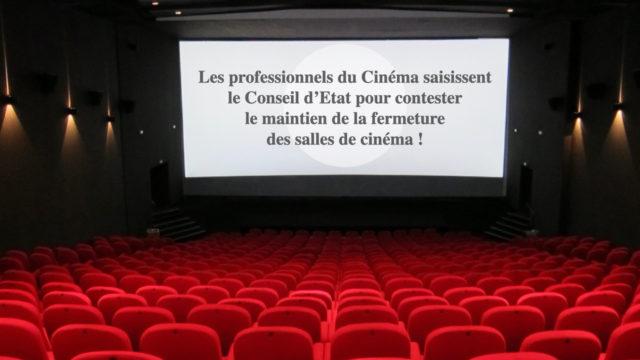 Les professionnels du Cinéma saisissent le Conseil d'Etat pour contester le maintien de la fermeture des cinémas © DR