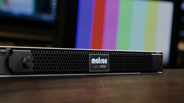 Le générateur de signal et de diagnostic VERO Matrox désormais compatible ST 2110 © DR
