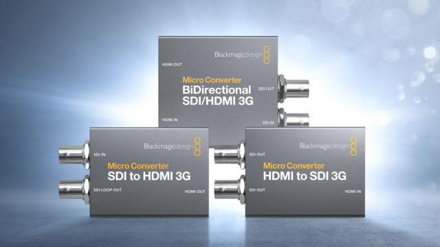 De nouveaux modèles de Micro Converter 3G chez Blackmagic Design © DR