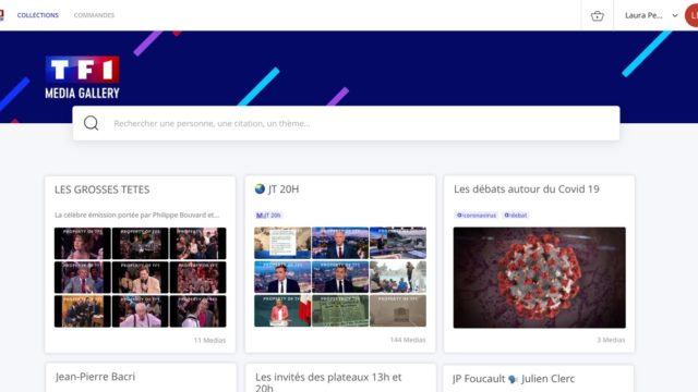 Le groupe TF1 s'associe à Newsbridge pour monétiser ses extraits vidéos grâce à l'IA sur sa plateforme TF1 MEDIA GALLERY © DR