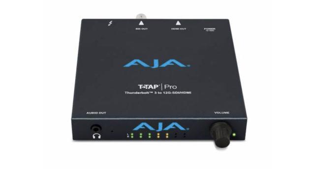 T-TAP Pro d'Aja, monitoring 4K/HDR/HFR et connectivité Thunderbolt 3 © DR
