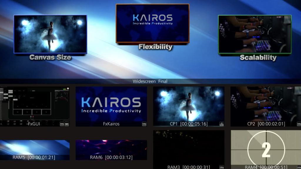 Production live : Panasonic apporte des améliorations à sa plateforme KAIROS © DR