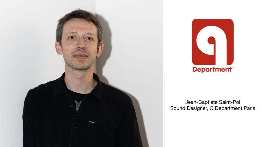 Jean-Baptiste Saint-Pol, sound designer de Q Department Paris © Kevin Couliau