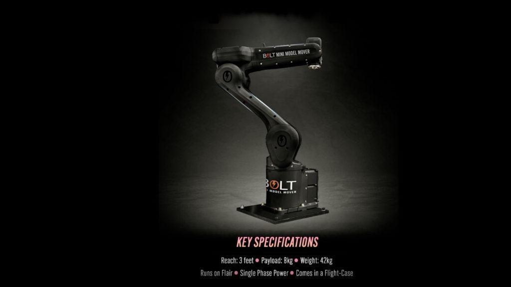 Un nouveau robot de motion control chez Mark Roberts ! © DR