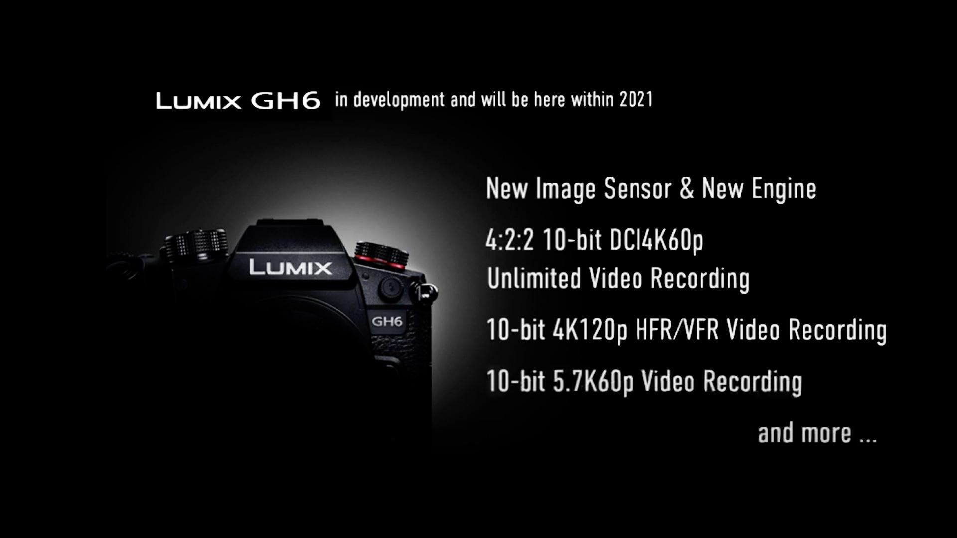 Le Lumix GH6 ... La prochaine caméra Lumix Panasonic à venir en 2021