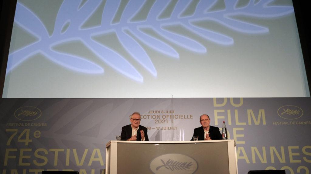 Pierre Lescure et Thierry Frémaux, annonce de la Sélection officielle 2021 © Serge Arnal