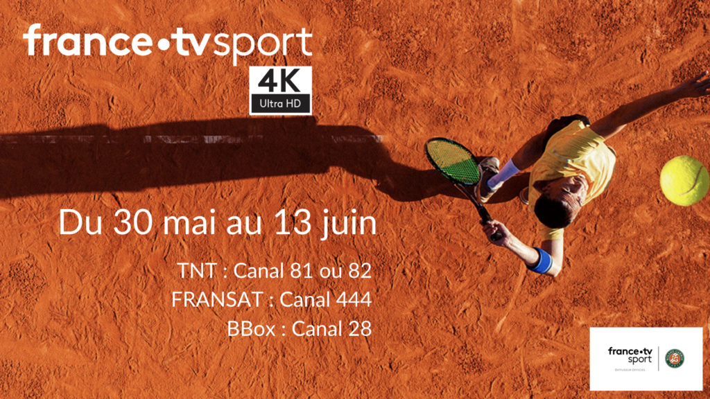 Roland Garros, terre battue fertile pour l'UHD 4K et la réalité augmentée © DR