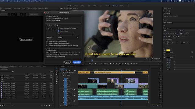 Des workflows vidéo toujours plus simples avec Creative Cloud © DR