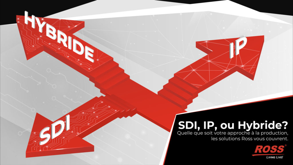 IP, SDI ou les deux ? Pourquoi le choix du client est tout ce qui compte le plus © DR